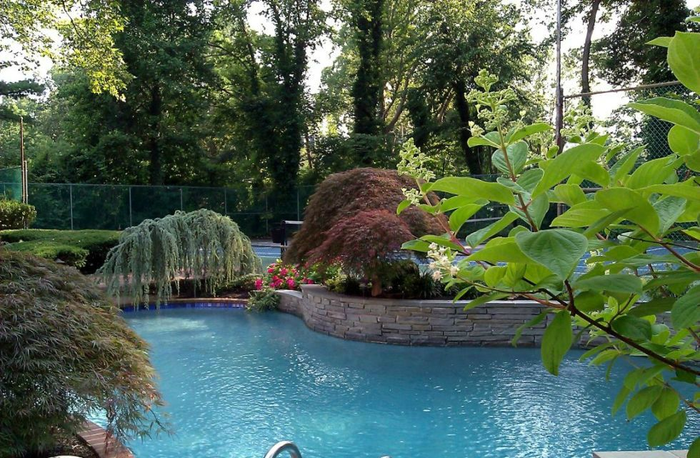 Long island poolscapes landscaping pools nassau suffolk county for Pool design long island ny