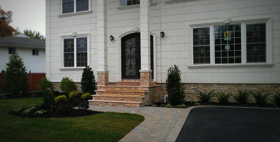 Brick Patio Installation And Outdoor Lighting Installed Long Island